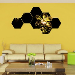 Set hexagonal Gold Orchid