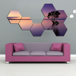 Set hexagonal Copac la apus
