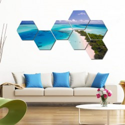 Set hexagonal Maldive