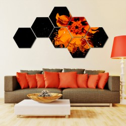 Set hexagonal Floare orange