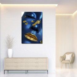 Tablou Gold and blue