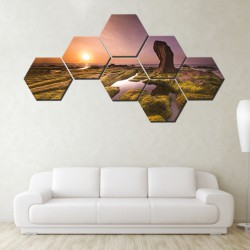 Set hexagonal Peisaj Marin