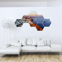 Set tablouri hexagonale Insula 01