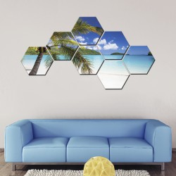 Set tablouri hexagonale Tropical