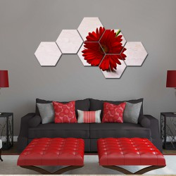 Set hexagonal Margareta rosie