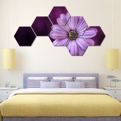 Set hexagonal Floare Lila